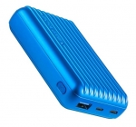 Promate TITAN-10C 10000mAh Dual Port USB Type-A & USB-C Fast Charging Powerbank - Blue