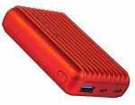 Promate TITAN-10C 10000mAh Dual Port USB Type-A & USB-C Fast Charging Powerbank - Red