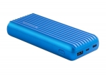 Promate TITAN-20C 20000mAh High-Capacity Power Bank with 3.1A Dual USB Output - Blue
