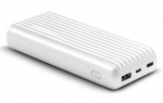 Promate TITAN-20C High-Capacity 20000mAh 3A Powerbank with Dual USB Output - White