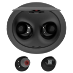Promate TRUEBLUE Wireless Bluetooth Ear Buds with 400mAh Charging Case - Black
