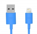 Promate LinkMate-LT 1.2M Lightning to USB iPhone Charge & Sync Cable - Blue