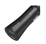 Promate ROBUST Dual Port USB Car Charger with Qualcomm Quick Charge 3.0 - Black