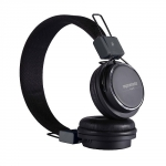 Promate Vent Trendy In-Line Over-Ear Stereo Wired Headphones with In-built Mobile Microphone - Black