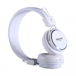 Promate Vent Trendy In-Line Over-Ear Stereo Wired Headphones with In-built Mobile Microphone - White