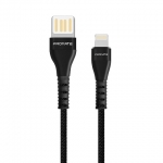 Promate Vigoray-i 1.2m USB-A to Lightning Charge & Sync Cable - Black