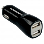 Promate Vivid Dual USB 12V Car Charger - Black