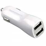 Promate Vivid Dual USB 12V Car Charger - White
