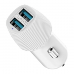 Promate VolTrip-Duo 3.4A Car Charger With Dual USB Ports - White