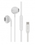 Promate GearPod-C2 USB-C In-ear Wired Stereo Earphones with Microphone - White