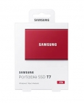 Samsung T7 1TB USB 3.2 Portable External Solid State Drive - Metallic Red