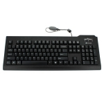 Seal Shield Silver Seal Medical Grade IP68 Waterproof USB Keyboard - Black