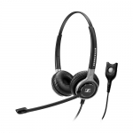 Sennheiser Century SC-660 Easy Disconnect Overhead Wired Stereo Headset with Noise-Cancelling Mic - Black