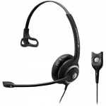 Sennheiser SC-230 Easy Disconnect Overhead Wired Mono Headset with Noise-Cancelling Mic - Black