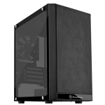 SilverStone Precision Series PS15 Micro ATX Mini-Tower Tempered Glass Case - Black