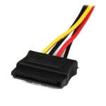 StarTech LP4 to 2x Latching SATA Splitter Y Cable