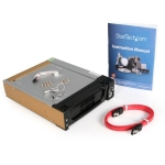 StarTech 5.25 Inch Rugged SATA Hard Drive Mobile Rack Drawer - Black + Prezzy Card Draw Offer