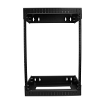 StarTech 15RU Open Frame Wall Mount Server Equipment Rack - Adjustable Depth
