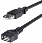 StarTech 1.8m USB 2.0 USB Type-A Male to USB Type-A Female Extension Cable - Black
