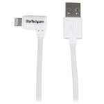 StarTech 1m Right Angled Lightning to USB Charge & Sync Cable - White