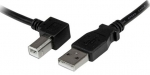 StarTech 1m USB 2.0 Type A Male to Left Angle Type-B Male Cable - Black