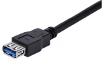 StarTech 1m SuperSpeed USB 3.0 Type-A Male to Type-A Female Extension Cable - Black + Prezzy Card Draw Offer