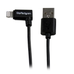 StarTech 1m Right Angled Lightning to USB Charge & Sync Cable - Black