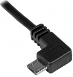 StarTech 1m USB 2.0 Type-A Male to Left Angle Micro-B Male Cable - Black + Prezzy Card Draw Offer