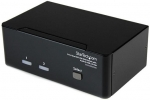 StarTech 2 Port Dual DVI USB KVM Switch with Audio & USB 2.0 Hub