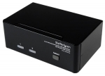StarTech 2 Port DVI VGA Dual Monitor KVM Switch USB with Audio & USB 2.0 Hub