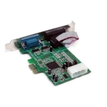 StarTech PCI Express to 2 Port DB9 RS232 Serial Adapter Card