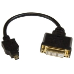 StarTech 20cm Micro HDMI Male to DVI-D Adapter Female Cable