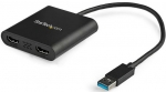 StarTech 4K USB 3.0 Type-A to 2x HDMI Adapter Female Adapter - Black