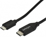 StarTech 2m USB 2.0 USB-C Male to Micro-B Male Cable - Black