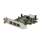 StarTech 3 Port 2b 1a Low Profile 1394 PCI Express FireWire Card - 1x FireWire 400, 2x FireWire 800