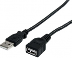 StarTech 3m USB 2.0 USB Type-A Male to USB Type-A Female Extension Cable - Black + Prezzy Card Draw Offer