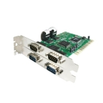 StarTech 4 Port PCI DB-9 RS232 Serial Adapter Card