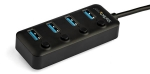 StarTech 4 Port USB-C Bus Powered USB Hub with Individual On & Off Switches