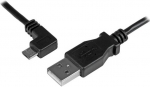 StarTech 0.5m USB 2.0 Type-A Male to Left Angle Micro-B Male Cable - Black