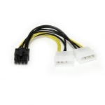 StarTech 6 Inch LP4 to 8 Pin PCIe Power Cable Adapter