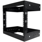 StarTech 8RU Open Frame Wall Mount Server Equipment Rack - Adjustable Depth