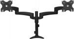 StarTech Articulating Dual Monitor Desk Mount Bracket for 12-24 Inch Flat Panel TVs or Monitors - Up to 13.6kg