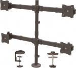 StarTech Quad Monitor Arm Desk Mount Bracket for 13-27 Inch Flat Panel TVs or Monitors - Up to 8kg per Display
