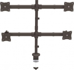 StarTech Quad Monitor Arm Desk Mount Bracket for 13-27 Inch Flat Panel TVs or Monitors - Up to 8kg per Display + Prezzy Card Draw Offer