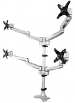 StarTech Full Motion Quad Monitor Arm Desk Mount Bracket for 13-27 Inch Flat Panel TVs or Monitors - Up to 11.3kg per Display