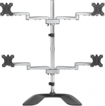StarTech Articulating Quad Monitor Arm Desk Stand for up to 32 Inch Flat Panel TVs or Monitors - Up to 8kg per Display