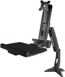 StarTech Single Monitor Sit-Stand Workstation Desk Mount Bracket for up to 24 Inch Flat Panel TVs or Monitors - Up to 8kg (Monitor)