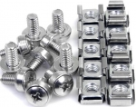 StarTech M6 Silver Mounting Screws and Cage Nuts - 50 Pack