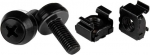 StarTech M6 Black Mounting Screws and Cage Nuts - 100 Pack + Be in the draw to WIN 1 of 2 $500 Prezzy Cards