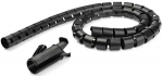 StarTech Spiral 1.5m x 25mm Cable Management Sleeve - Black